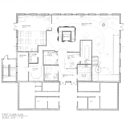 Interior Design Daycare Blueprint