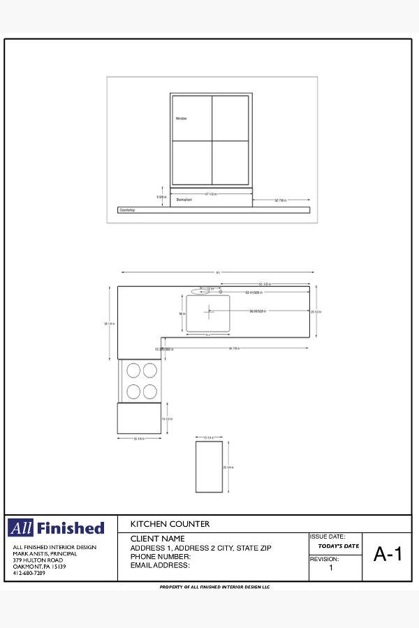 Interior Kitchen Design Measurements